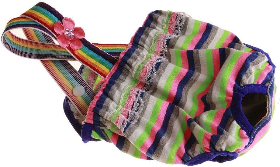 XS Colore a Caso Mutandine per Animali Domestici con Reggicalze per Cani Femmine RC GearPro 2 Pannolini Lavabili per Cani