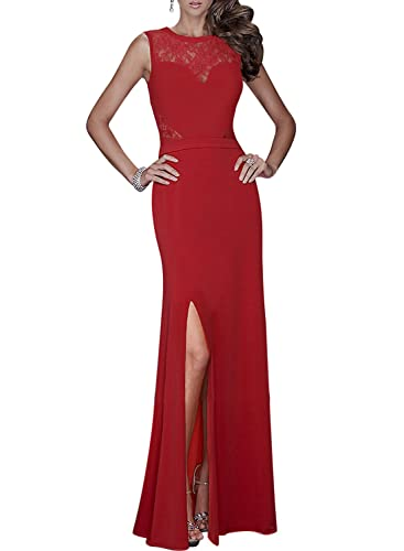 Missmay Women's Long Evening Wedding Bodycon Cocktail Party Dress