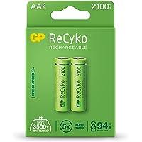 2 Pilhas Recarregaveis AA 2000mAh Recyko Pro GP Batteries, Pequena
