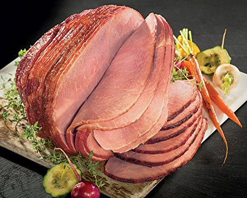 Kansas City Steaks 1 (7.25-8.5 lbs) Hickory Smoked Spiral Sliced Ham, Original Honey Glaze Hickory Honey Hams