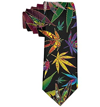 Corbatas de poliéster niño Marihuana Hierba Verde Moda Formal ...