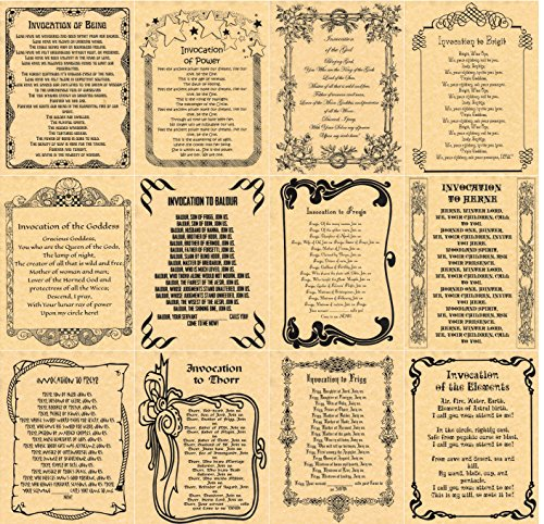book-of-shadows-spells-pages-12-invocations-wicca-witchcraft-like-charmed-gold