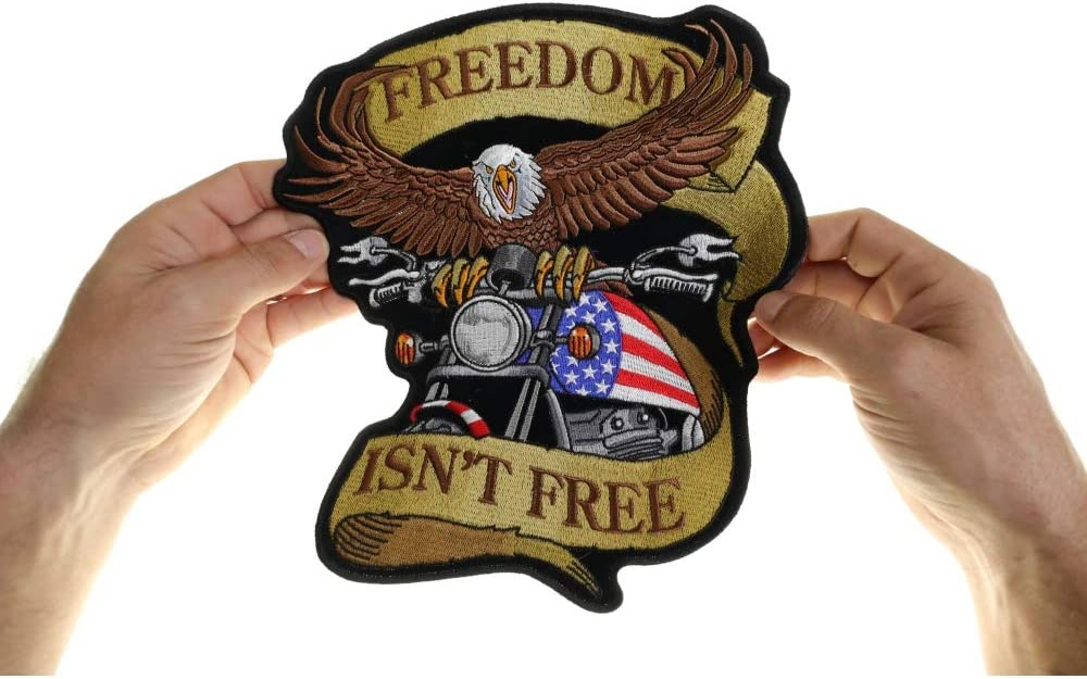 Patriotic Freedom Is Not Free Biker Patch FREE SHIP