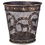 Wastebasket Bronze Quarter Horse