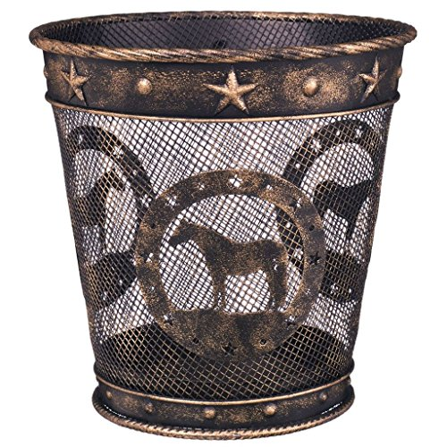 Wastebasket Bronze Quarter Horse by Gift Corral