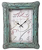 NACH DA-1006 Vintage Style Teal Wall Clock 15×3.4×18.9 Review