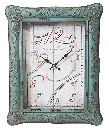 Vintage Style Teal Wall Clock  - cute vintage wall clock
