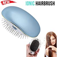 Mini Ionic Hair Brush, Leegoal Portable Electric Ionic Hairbrush Styling Combs Scalp Massager for All Hair Types, Hair Detangler, Antic-Static, Natural Shine