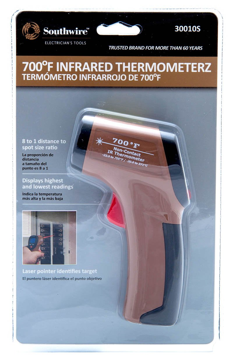 Southwire Tools & Equipment 30010S 700°F Non-Contact Digital Infrared Thermometer by Southwire