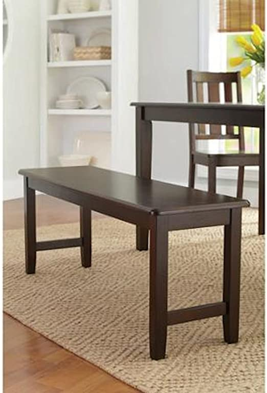 Better Homes and Gardens Brown Two Seat Dining Bench, Mocha, Espresso for  Table, Hallway, Entryway or Even Patio (Mocha)