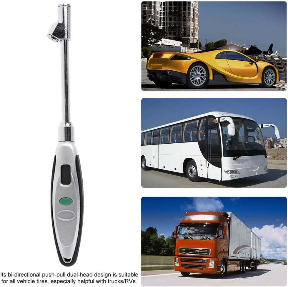 PINH-lang Manometer,Digitales Hochleistungs-Reifendruckmessger/ät 180 PSI Doppelkopf-Reifendruckmessger/ät mit Hintergrundbeleuchtung