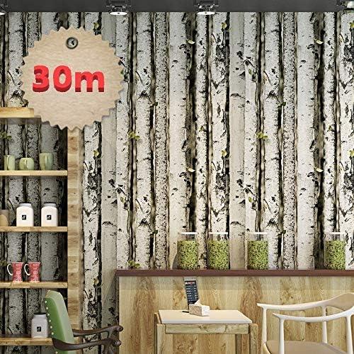 3D ウォールペーパー B254 ビンテージ 丸太 白木 木目 53cm×30m 和モダン インテリア DIY のりなし 壁紙 クロス リメイク