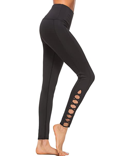 0ba7564eff099 OVESPORT Workout Leggings for Women Crisscross Strappy High Waisted Fitness  Yoga Sports Pants(S,