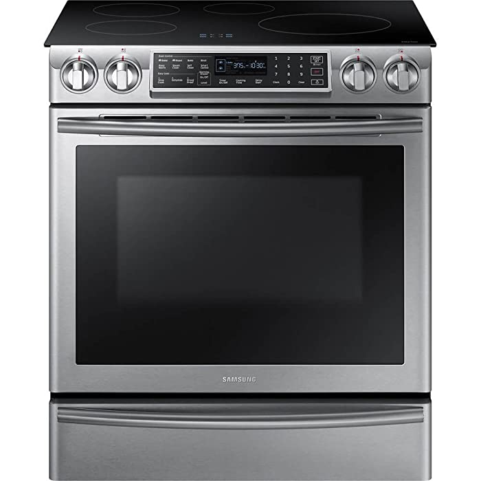 "Samsung Appliance NE58K9560WS 30"" Slide-in Electric Range with Smoothtop Cooktop, 5.8 cu. ft. Primary Oven Capacity, in Stainless Steel"