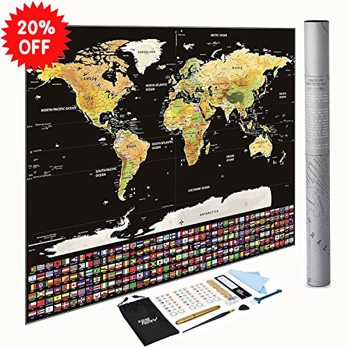 Delicate scratch off world map poster detailed map with us states delicate scratch off world map poster detailed map with us states and all country flags gumiabroncs Choice Image