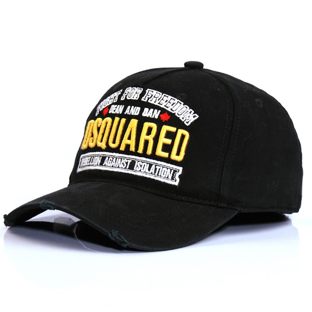 EASTVAPS DSQ Cap Baseball Cap Men's and Women's Sports Cap Snapback Cap Black