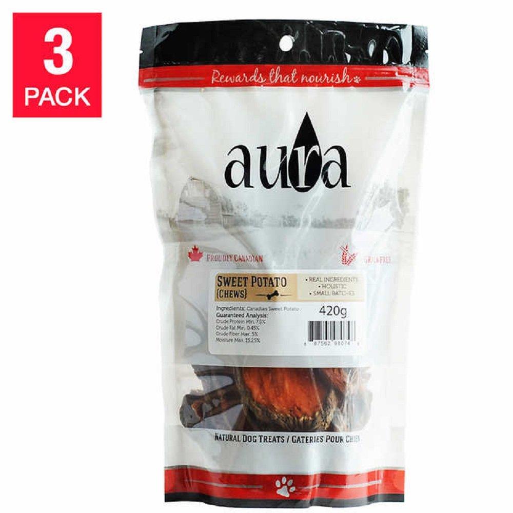 Aura Sweet Potato Chews, 3-Pack