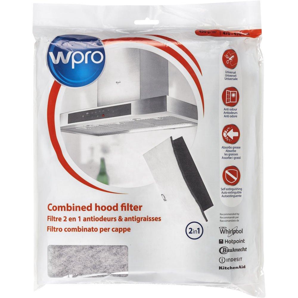 Wpro ucf016–Campana accesorios/filtro para campana/activo de carbón y filtro de grasa Juego/Universal/Recortable UCF016 C00380049
