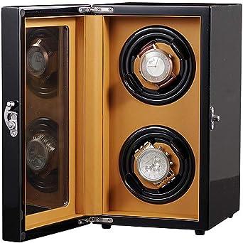 Doble Cajas Giratorias para Relojes Automaticos para 2 Relojes, Torre Vertical Estuche Bobinadora con Motor Silencioso Watch Winder 5 Modos de Rotación: Amazon.es: Relojes
