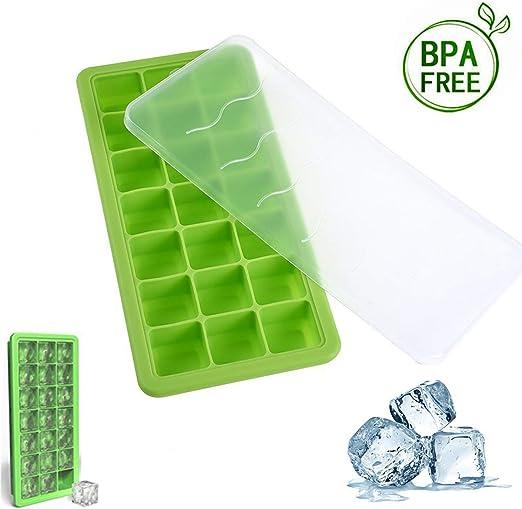 TopBine bandeja para cubitos de hielo, 21 cuadrados de silicona ...