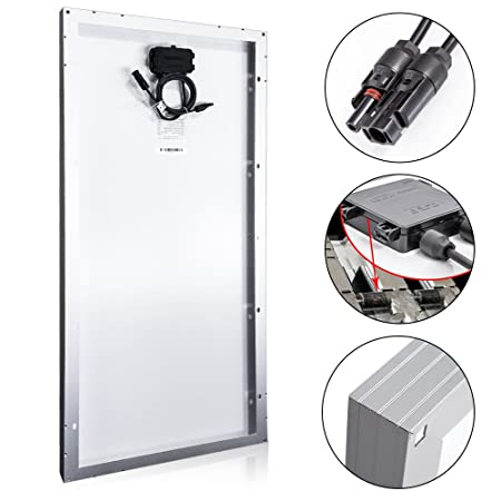 ACOPOWER 4 x 100 Solar SolarPanel, 4X 100 Watt 400W Polycrystalline PV Panel fit 12V Batteries w MC4 Connector