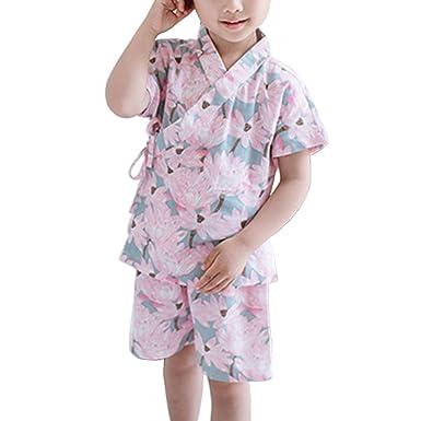 44402a9340281 (ビメイゴー) Bmeigo 甚平 女の子 男の子 浴衣 子供服 綿100% じんべい 夏 通気