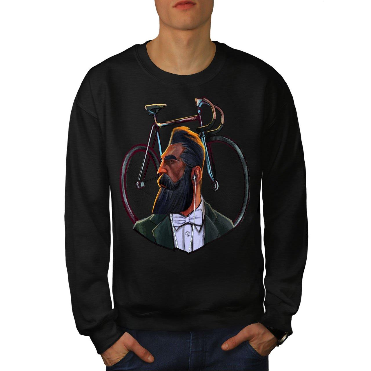 Casual Jumper wellcoda Real Man Gentleman Beard Mens Sweatshirt