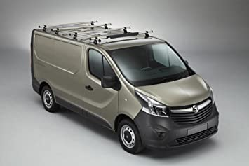 2014 on Rhino Delta 4 Bar Van Roof Rack System for Renault Trafic Std Roof
