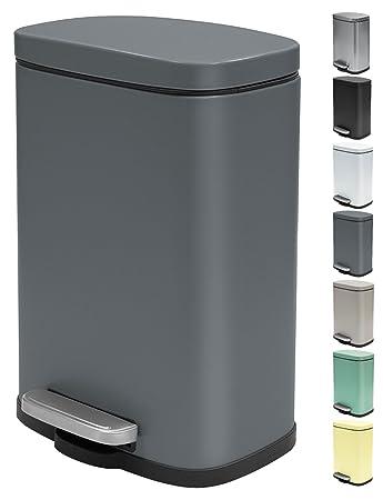 Spirella Kosmetikeimer 5 Liter Edelstahl mit Absenkautomatik und ...