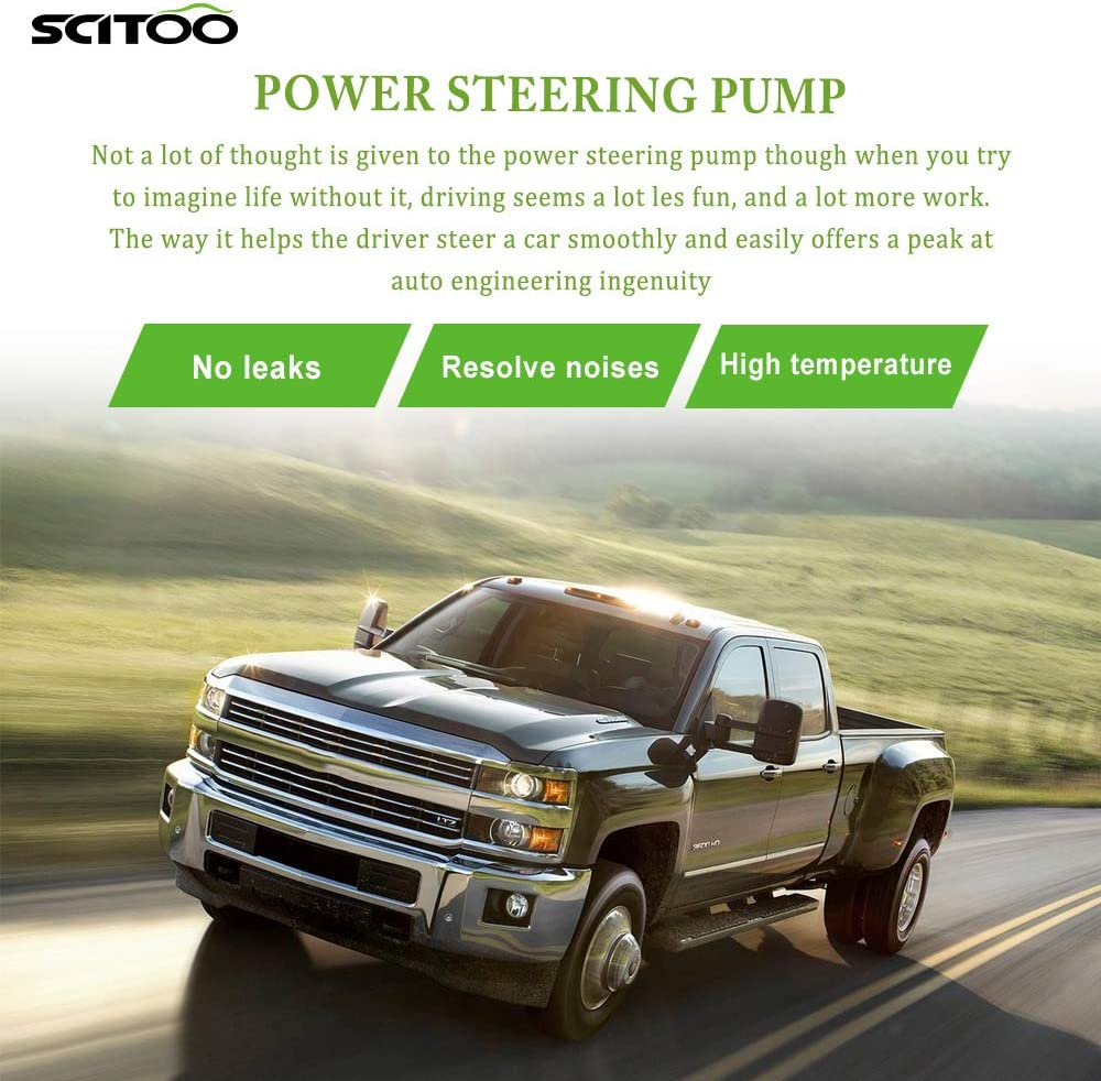 SCITOO Power Steering Pump Compatible for 2012 2013 2014 2015 2016 2017 Jeep Wrangler 20-1039 Power Assist Pump