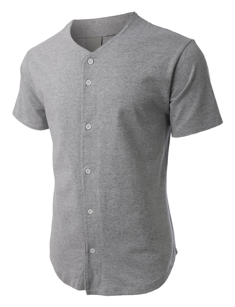 メンズ ベースボール ボタンタウン ジャージ ヒップスター ヒップホップ Tシャツ 1UPA01 B06ZZHNMPX 3L|グレー グレー 3L