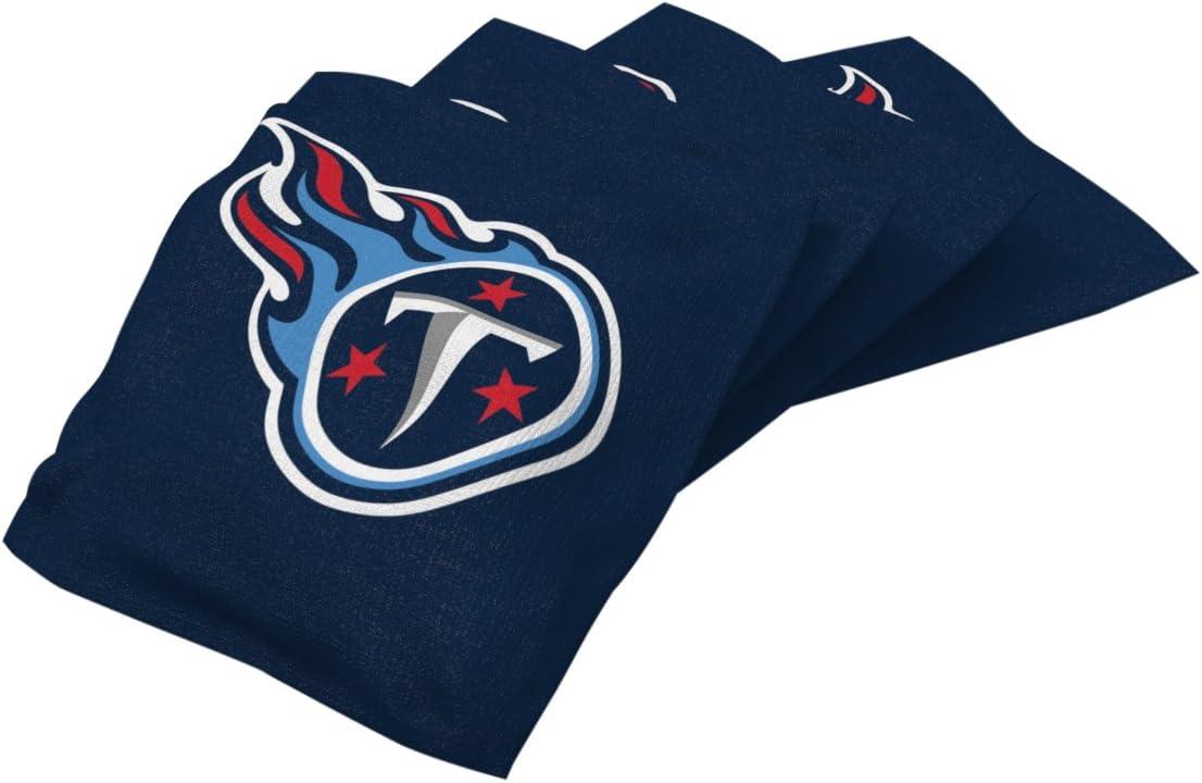 4 Pack Wild Sports NFL Tennessee Titans Navy Authentic Cornhole Bean Bag Set