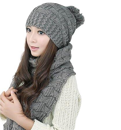 Back Packers unisex berretto invernale caldo cappello sciarpa set sciarpa  spessa maglia cappello caldo pile foderato ... e84e6a0a72d7