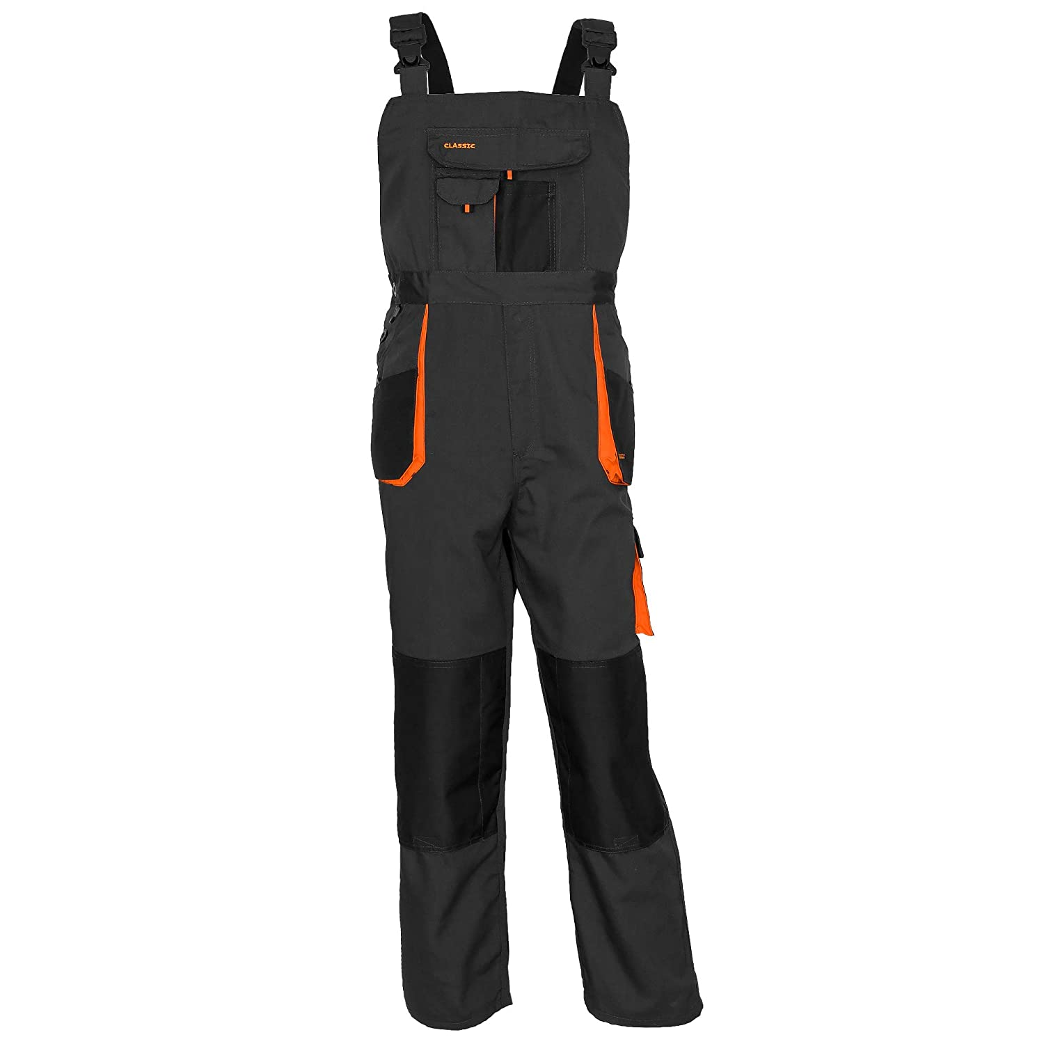 ArtMas Bib and Brace Dungaree Overalls for Man Pro Wear Workwear S-3XL Size Multipockets Durable Triple Stitched Seams Knee Reinforcement with Pocket for Knee Pad
