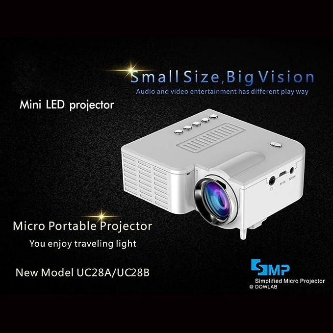 Proyector para El Hogar, Mini Proyector Portátil En Miniatura ...