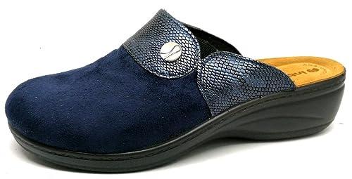 Inblu pantofole ciabatte invernali da donna art. LY-32 blu (40 ... 991be4d4b27