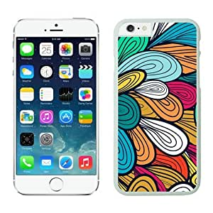 Iphone 6 Plus Case 5.5 Inches, Beautiful White Hard Phone Cover Case for Apple Iphone 6 Plus illustration Retro Florals Design by runtopwell