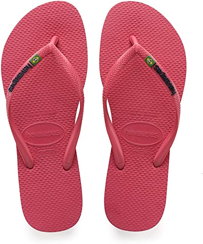 on feet shots of really cheap classic styles Amazon.com   Havaianas Slim Brasil Logo Womens Flamingo Pink ...