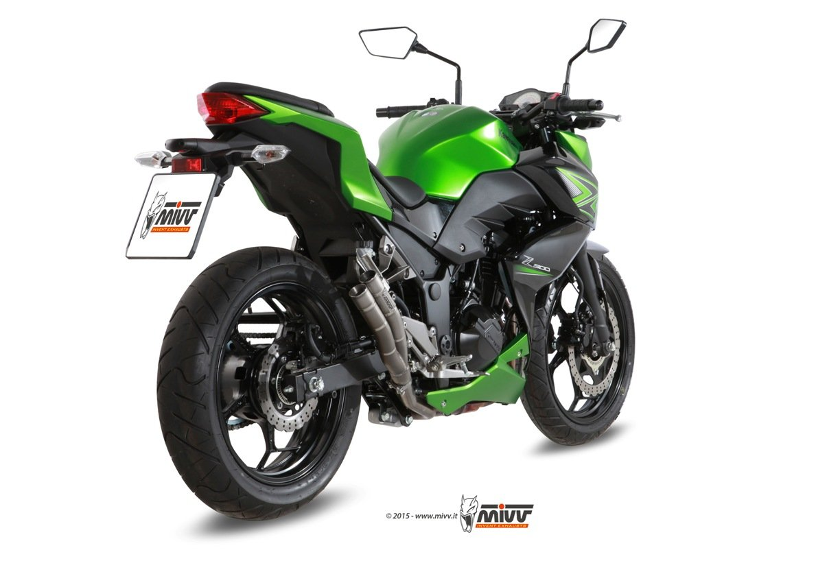 CJYShop Parabrisas de doble burbuja para motocicleta Kawasaki Z250 Z300 2013 2014 2015