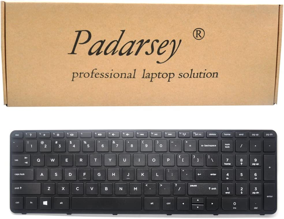 Padarsey Replacement Keyboard with Frame for HP Pavilion 17-E 17-E000 17-e100 17z-e000 17-e017cl 17-e017dx 17-e019dx 17-e020dx 17-e017cl 17-e017dx 17-e033ca 17-e033nr 17-e012sg 17-e020dx 17-e061nr 17-
