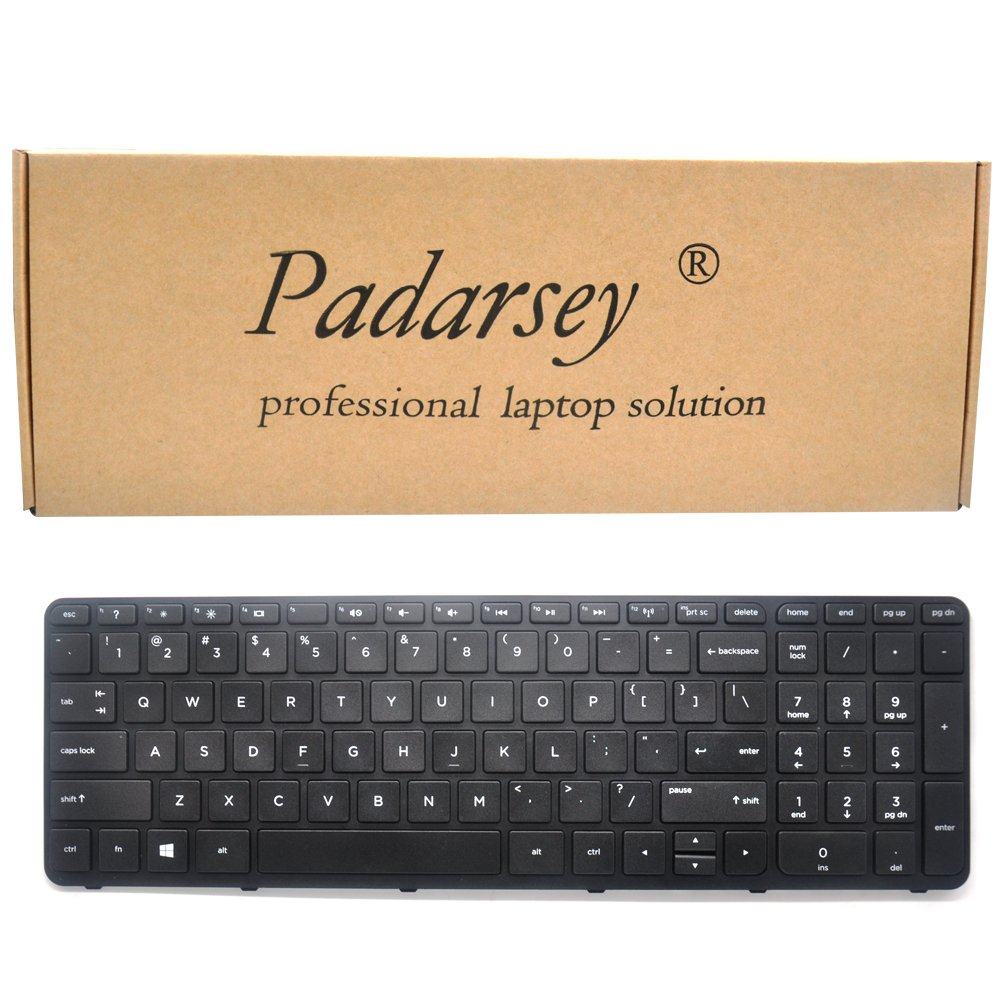 Padarsey Replacement Keyboard with Frame for HP Pavilion 17-E 17-E000 17-e100 17z-e000 17-e017cl 17-e017dx 17-e019dx 17-e020dx 17-e017cl 17-e017dx 17-e033ca 17-e033nr 17-e012sg 17-e020dx 17-e061nr 17- by Padarsey (Image #1)
