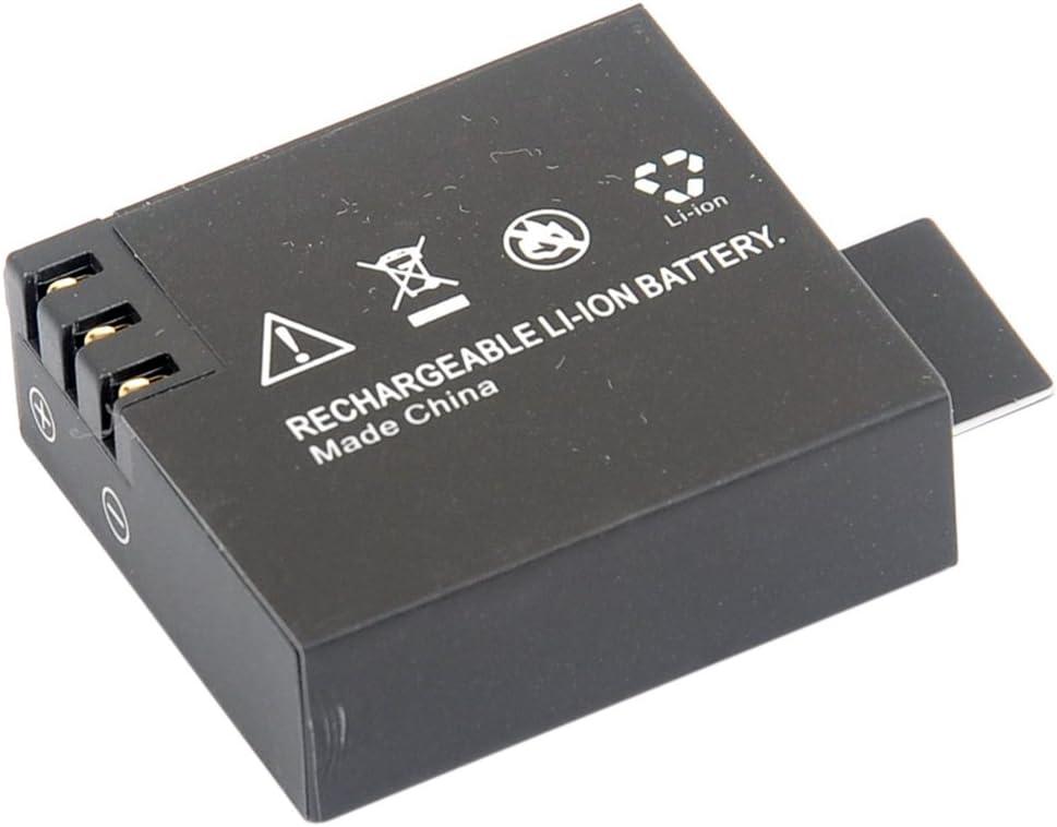 REFURBISHHOUSE 4X 3.7V 900mAh Bateria Cargador Dual USB para SJ4000 Deporte Camara OS480,Negro