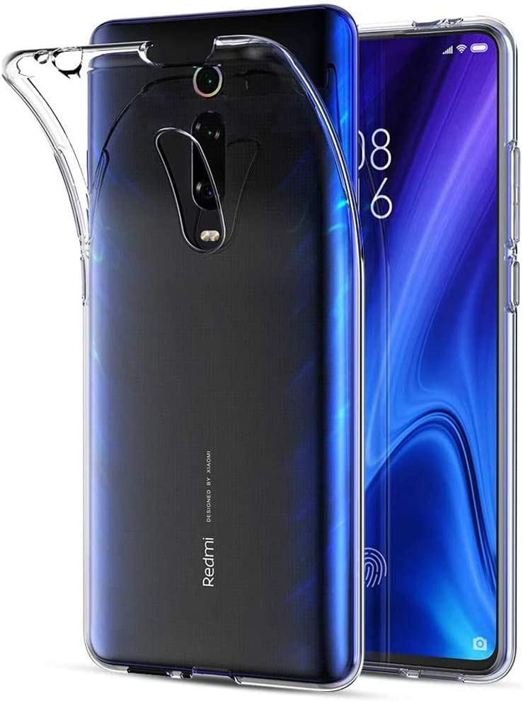 Amonke Funda Xiaomi Mi 9T - Silicona Transparente TPU Carcasa, Flexible Suave Cristal Clear Ultra Slim Antigolpes Antiaraazos Bumper Case Cover para Movil Xiaomi Mi 9T