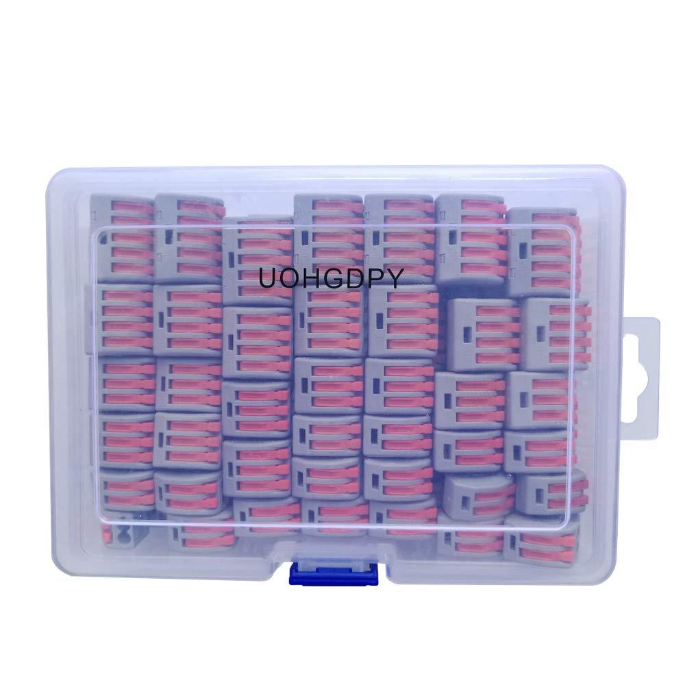 UOHGDPY レバーナット、ワイヤコネクタ、詰め合わせパックコンダクターコンパクトワイヤコネクタ、(PCT-212(40個) PCT-213(40個) PCT-214(20個) PCT-215(20個)(120個) B07GGXYVDW