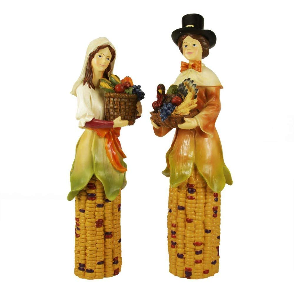 Pack of 2 Pilgrim Autumn Harvest Table Top Decorations 10.5'' - 31104463