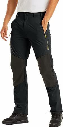 MAGCOMSEN Men's Hiking Pants 4 Zip Pockets Reinforced Knees, Sun Protection, Water Resistant, Lightweight Work Fishing Pants