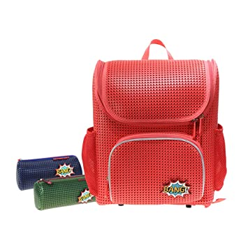 3bcf326a66cc Peterpoint Kids' Backpack Children's School Bags for Elementary Lightweight  Satchel Red for Boys Girls with Add-on Patch