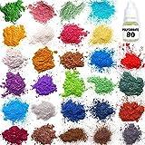 Mica Powder – Soap Making Kit – Soap Making dye – 28 Coloring - Powdered Pigments Set – Hand Soap Making Supplies - Resin Dye – Organic Mica Powder - Bath Bomb Dye Colorant