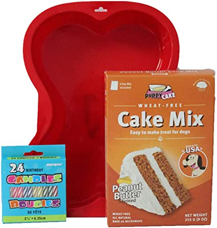 Fine Amazon Com Puppy Cake Mix Dog Birthday Cake Kit With Bone Personalised Birthday Cards Veneteletsinfo