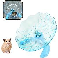 WishLotus Hamster Flying Saucer, Hamster Running Wheel Transparent Plastic Exercise Running Spinner Sports Wheel for…